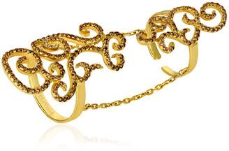 LeVian Le Vian 14K Honey Gold 1.16 Ct. Tw. Diamond Knuckle Ring
