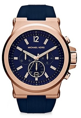 Michael Kors Dylan Rose Goldtone & Silicone Strap Chronograph Watch