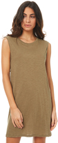 Rusty Blank Rolled Muscle Dress Natural