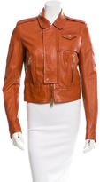 DSQUARED2 Leather Zip-Up Jacket