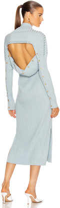 Proenza Schouler Long Sleeve Slouchy Dress in Light Blue | FWRD