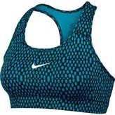 Nike Women's Dri-Fit Victory Compression Mirror Training Bra-Blue Lagoon/Black-Small
