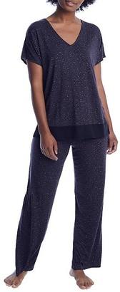 Donna Karan Charcoal Animal Modal Pajama Set