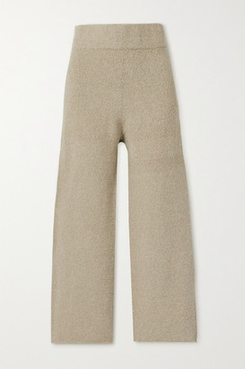 LAUREN MANOOGIAN Miter Pima Cotton-blend Wide-leg Pants - Mushroom