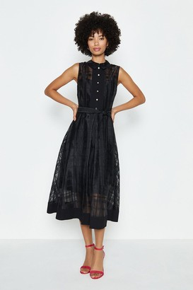 Coast Check Organza Shirt Dress