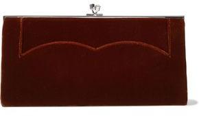 Victoria Beckham Pocket Velvet Clutch