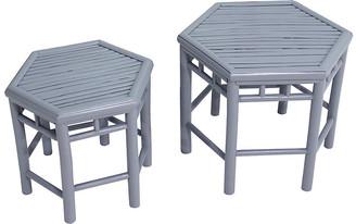 One Kings Lane Asst. of 2 Onesta Nesting Tables - Light Gray