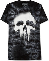 JEM Men's Marvel Punisher Tie-Dyed Halftone Graphic-Print T-Shirt