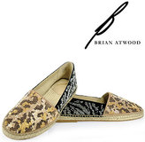 Brian Atwood B by Hartwell - Studded Flat in Natural
