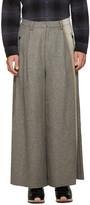 Facetasm Grey Wool Wide-Leg Trousers