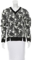 Thakoon Silk-Trimmed Damask Top
