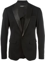 DSQUARED2 Tokyo suit jacket - men - Cotton/Calf Leather/Polyester/Virgin Wool - 44