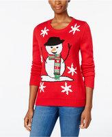 Karen Scott Petite Snowman Holiday Sweater, Only at Macy's