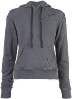 Greg Lauren - Destroyed Hero hoodie - women - Cotton - 1
