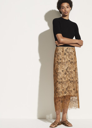 Vince Lace Slip Skirt