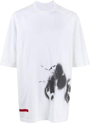 Rick Owens oversized graphic T-shirt