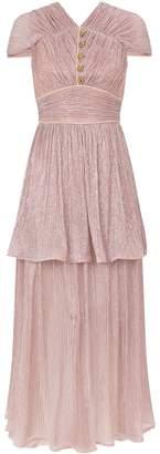 Peter Pilotto Metallic Plisse Midi Dress
