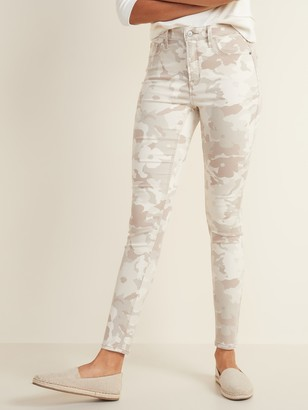 Old Navy High-Waisted Camo-Print Rockstar Super Skinny Jeans for Women