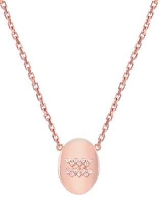 Mini Mini Jewels Framed Diamond Zodiac Sign Pendant Necklace