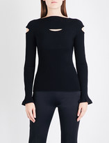 Cushnie et Ochs Boat-neck knitted jumper