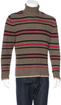 John Varvatos Striped Wool Turtleneck Sweater