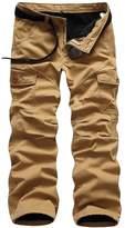 BATUOS Men's Winter Fleece Lined Military Cargo Pants