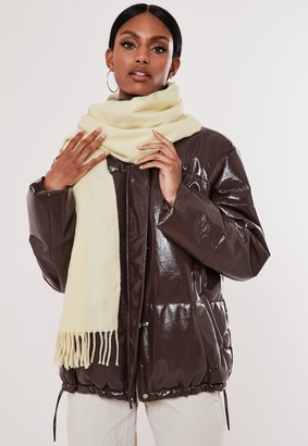 Missguided Cream Blanket Scarf