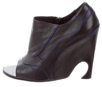 Christian Dior Peep-Toe Songe Booties