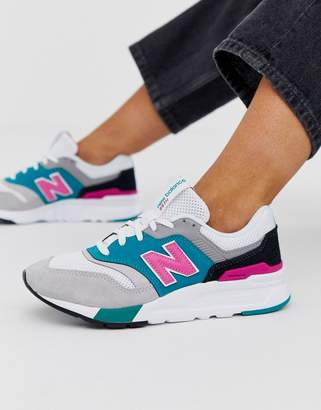 New Balance 997H colour block trainers in white
