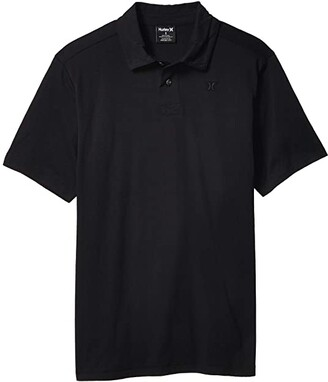 Hurley Dri-Fit Harvey Solid Short Sleeve Polo (Black) Men's Short Sleeve Pullover