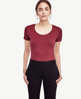 Ann Taylor Tall Cotton Scoop Neck Tee