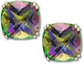 Macy's 14k Gold Earrings, Cushion Cut Mystic Topaz Stud Earrings (9-1/2 ct. t.w.)