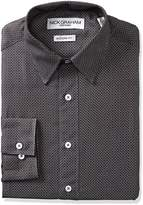 Nick Graham Everywhere Men's Dot Grid Print Dress Shirt