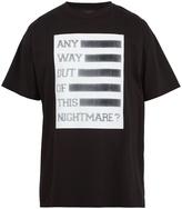 Raf Simons Any Way Out-print cotton T-shirt