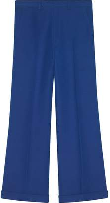 Gucci Wool-silk ankle length pant