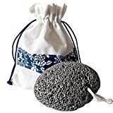 Natural Lava Pumice Stone With FREE Travel Bag - Perfect For Instantly Removing Rough Calloused Skin On Hands And Feet In The Shower
