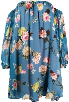 Semi-Couture Floral-Print Off-The-Shoulder Dress