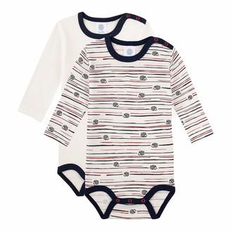 Sanetta Baby Boys' Langarmbody Doppelpack Broken White Toddler Underwear Set