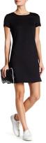 Dex Short Sleeve Embossed Back Zip Shift Dress