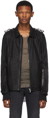 Rick Owens Black Blistered Rotterdam Jacket