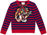 Gucci Children's striped sweater with tiger
