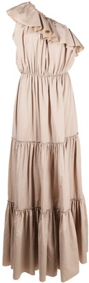 FEDERICA TOSI One-Shoulder Tiered Long Dress