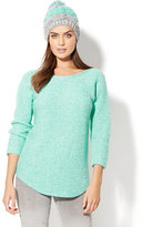 New York & Co. Marled Shirttail Dolman Sweater