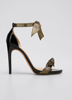 Alexandre Birman 110mm Clarita Metallic Ankle-Wrap Sandals