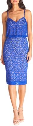 Dress the Population Alisha Lace Blouson Cocktail Dress