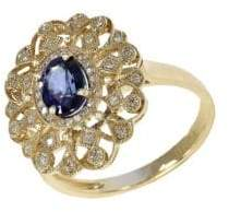 Effy 14Kt Sapphire and Diamond Ring