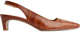Arket Square-Toe Leather Slingbacks