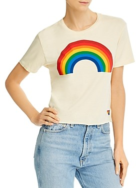 Aviator Nation Big Rainbow Graphic Boyfriend Tee