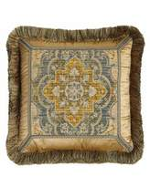 """Sweet Dreams Reversible Aquitaine Pillow with Fringe, 18""""Sq."""