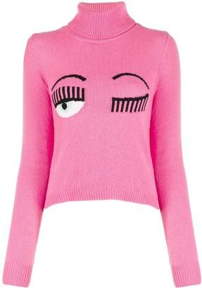Chiara Ferragni Flirting intarsia knit jumper